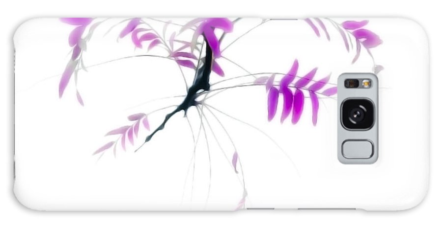 Leaves Galaxy S8 Case featuring the photograph Branch With Purple Leaves by John Henkel