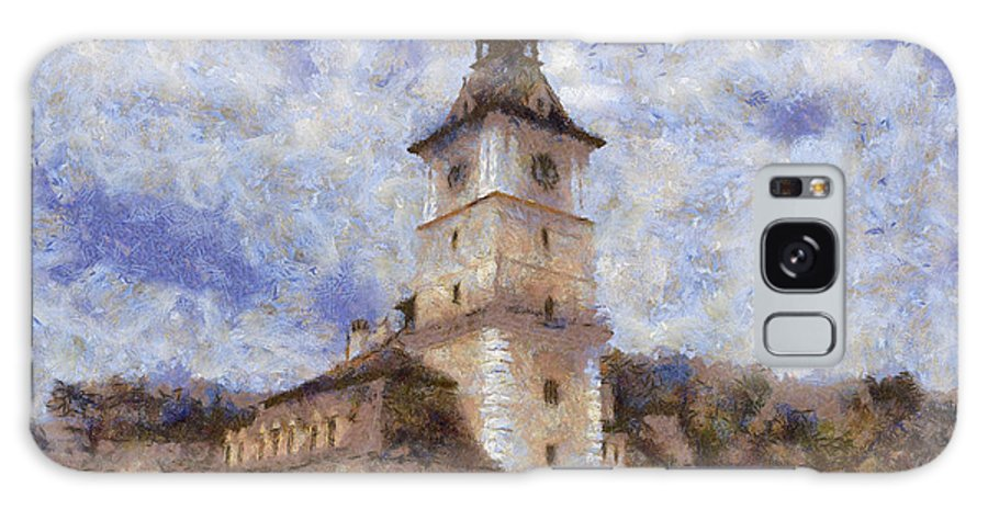 Architecture Galaxy S8 Case featuring the painting Brasov City Hall by Jeffrey Kolker