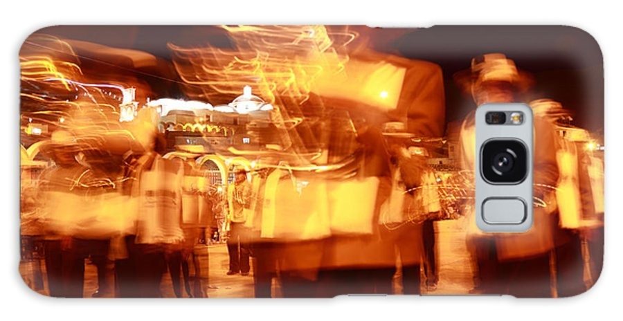 Brass Band Galaxy S8 Case featuring the photograph Brass Band At Night by James Brunker