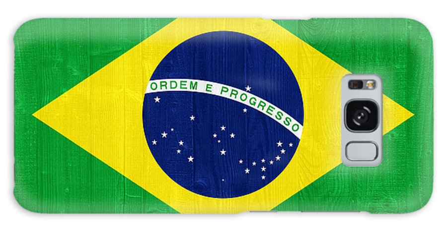 Brazil Galaxy S8 Case featuring the photograph Brazil Flag by Luis Alvarenga