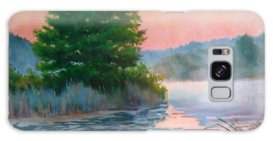 Impressionism Galaxy Case featuring the painting Break Of Day by Keith Burgess