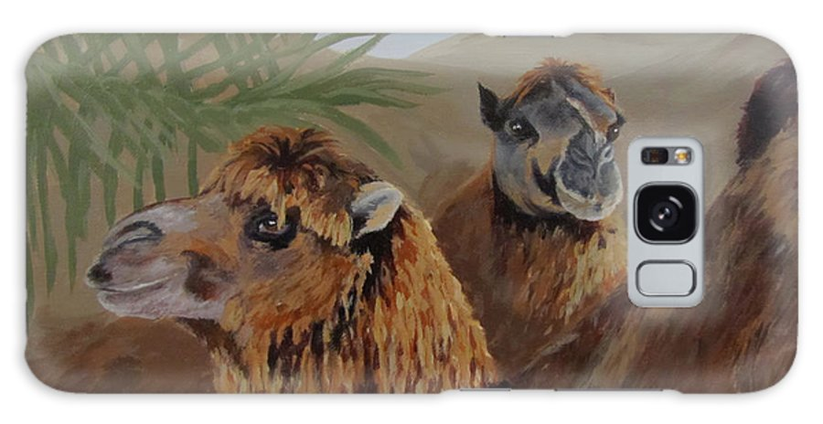 Camels Galaxy S8 Case featuring the painting Break Time by Karen Ilari