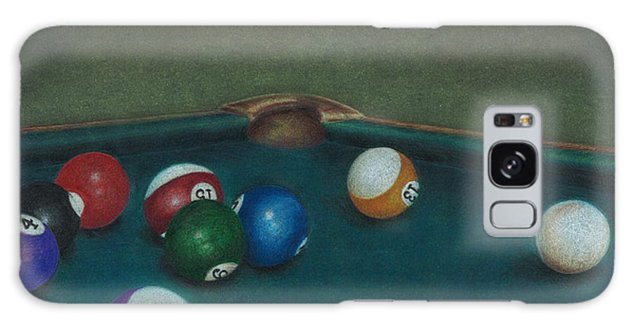 Pool Table Galaxy S8 Case featuring the drawing Break by Troy Levesque