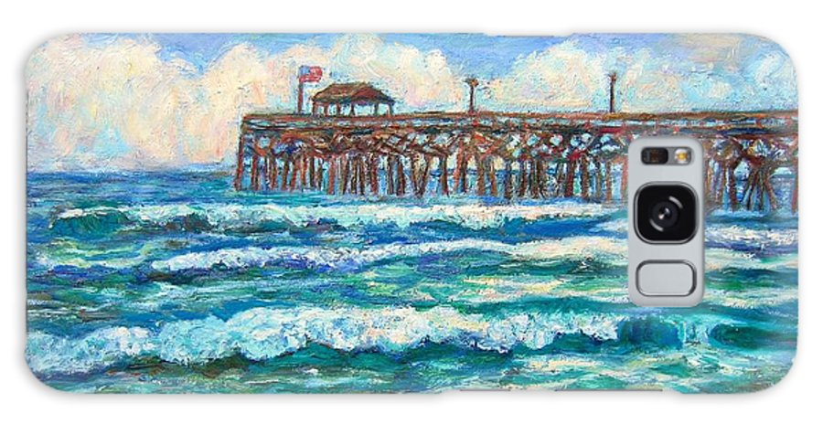 Shore Scenes Galaxy Case featuring the painting Breakers At Pawleys Island by Kendall Kessler