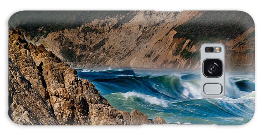 Pt Reyes Galaxy S8 Case featuring the photograph Breakers At Pt Reyes by Bill Gallagher