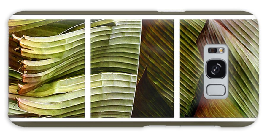Banana Leaf Galaxy S8 Case featuring the photograph Breeze - Banana Leaf Triptych by Ben and Raisa Gertsberg