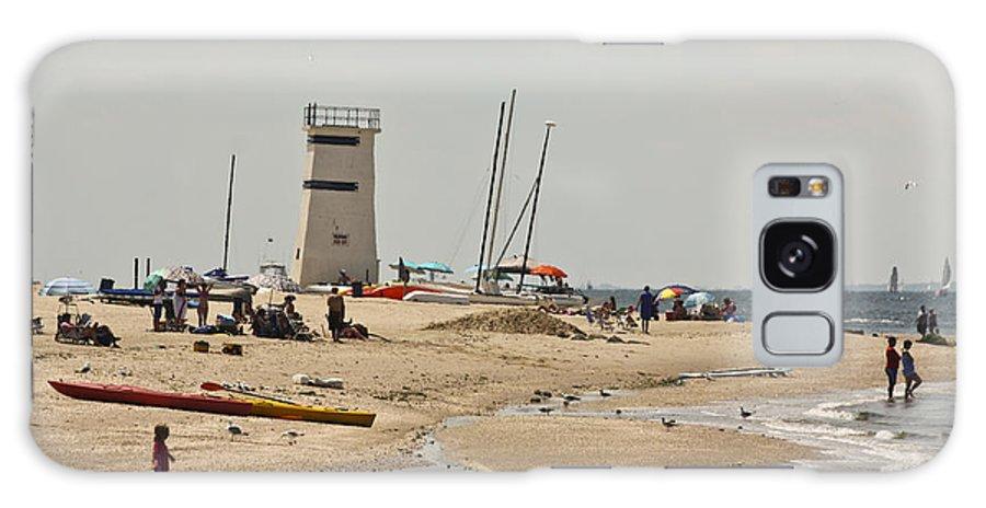 Breezy Point Lighthouse Galaxy S8 Case featuring the photograph Breezy Point Lighthouse Bayside by Ann Murphy