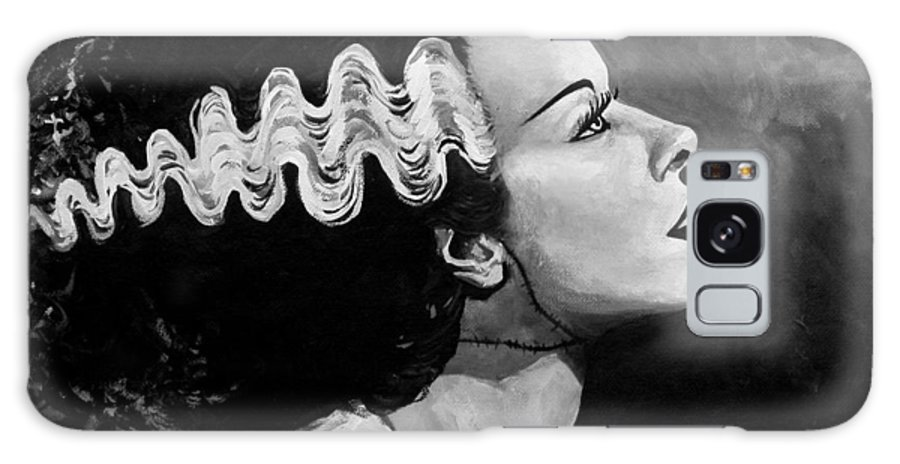 Bride Of Frankenstein Galaxy S8 Case featuring the painting Bride by Tom Carlton