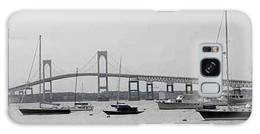 Black And White Galaxy S8 Case featuring the photograph Bridge In Newport by Catherine Ratliff