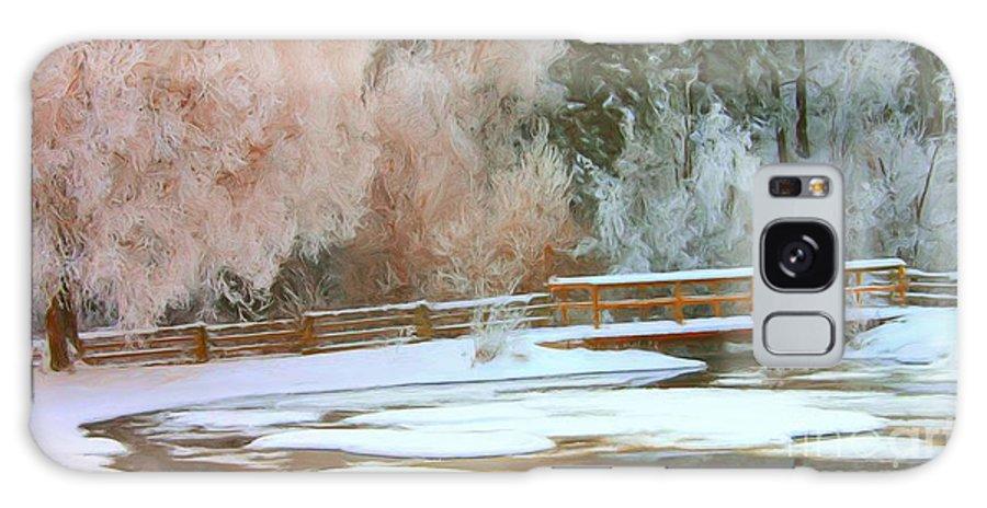 Bridge Galaxy S8 Case featuring the photograph Bridge In Winter by Roland Stanke