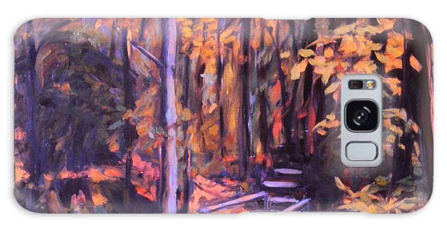 Woods Galaxy S8 Case featuring the painting Bridge In Woods Near Pandapas by Kendall Kessler