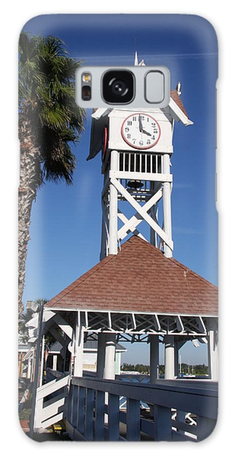 Pier Galaxy S8 Case featuring the photograph Bridge Street Pier And Clocktower by Christiane Schulze Art And Photography