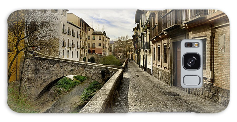 Landscape Galaxy S8 Case featuring the photograph Bridges At Darro Street In Historic Albaycin In Granada by Guido Montanes Castillo