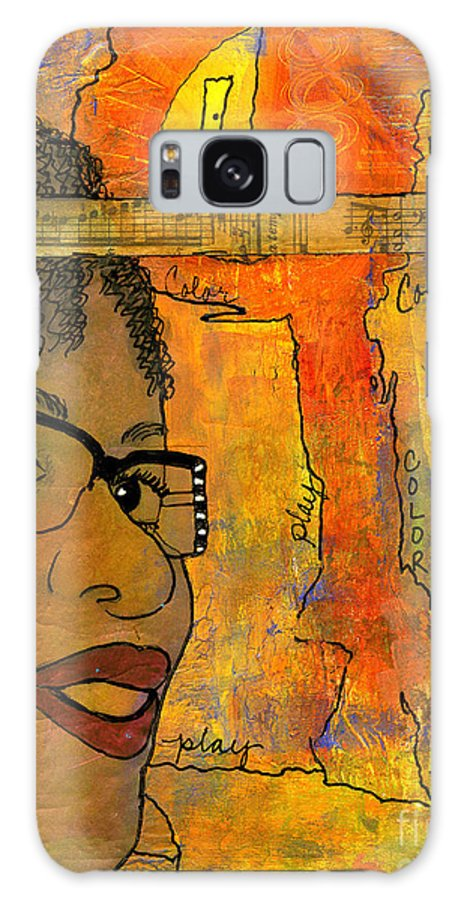 Journal Art Galaxy S8 Case featuring the mixed media Bright Ideas by Angela L Walker