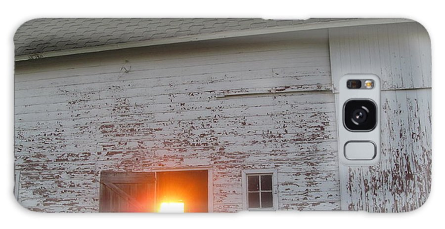 Barn Galaxy S8 Case featuring the photograph Bright Sunrise Through Barn by Tina M Wenger