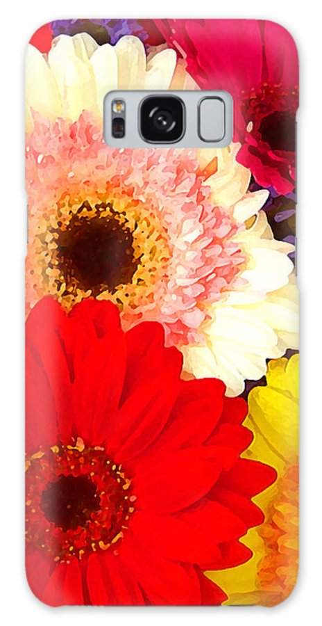 Daisies Galaxy S8 Case featuring the painting Brightly Colored Gerbers by Amy Vangsgard