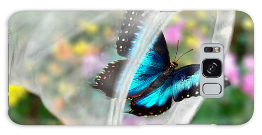 Brilliance Captured By Doug Kreuger Butterfly Caught In A Net Galaxy S8 Case featuring the digital art Brilliance Captured by Doug Kreuger