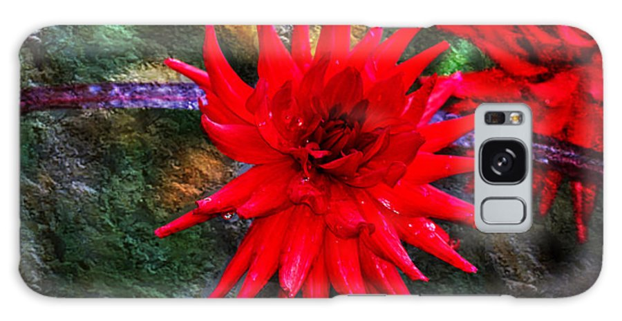 Autumn Galaxy S8 Case featuring the photograph Brilliance In An Autumn Garden - Red Dahlia by Marie Jamieson