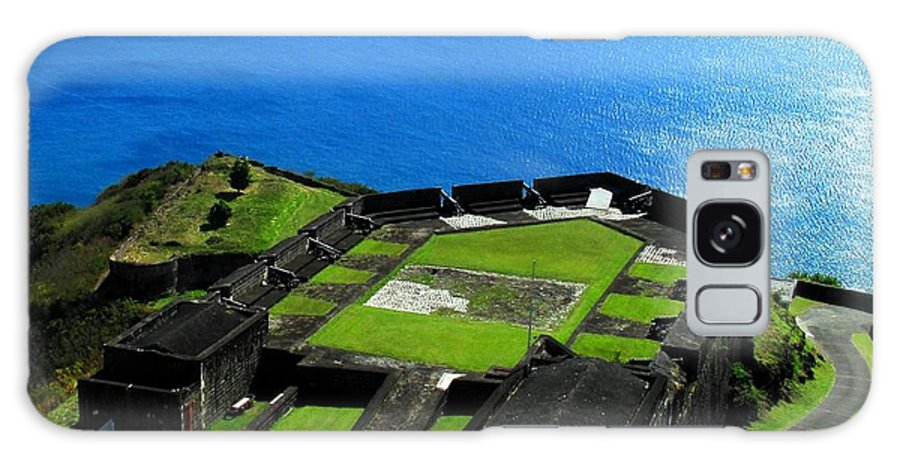 Brimstone Galaxy S8 Case featuring the photograph Brimstone Fortress St Kitts by Ian MacDonald