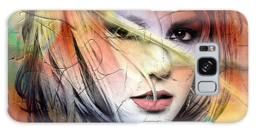 Britney Spears Galaxy Case featuring the painting Britney-Spears by Mark Ashkenazi