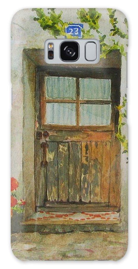 Door Galaxy S8 Case featuring the painting Brittany Door by Mary Ellen Mueller Legault