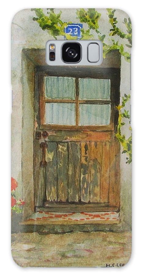 Door Galaxy Case featuring the painting Brittany Door by Mary Ellen Mueller Legault
