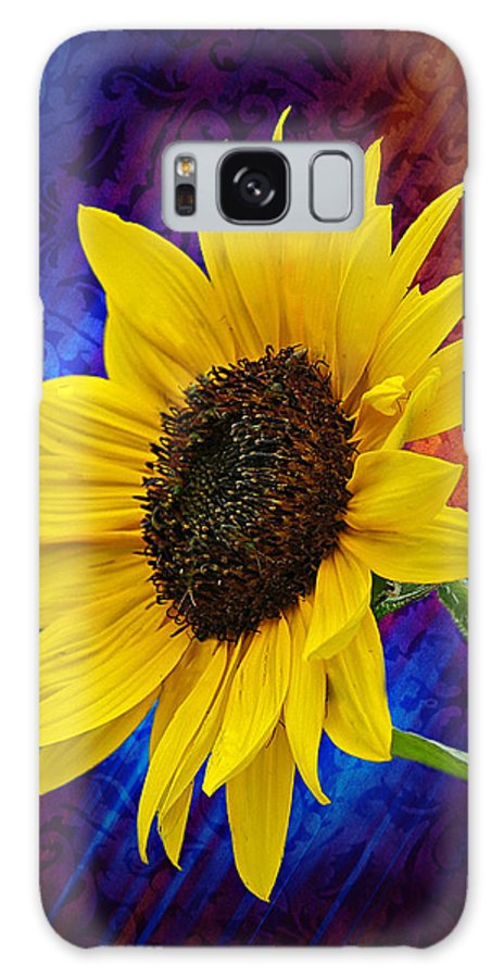 Daisy Galaxy S8 Case featuring the photograph Brocade Daisy by Judy Johnson