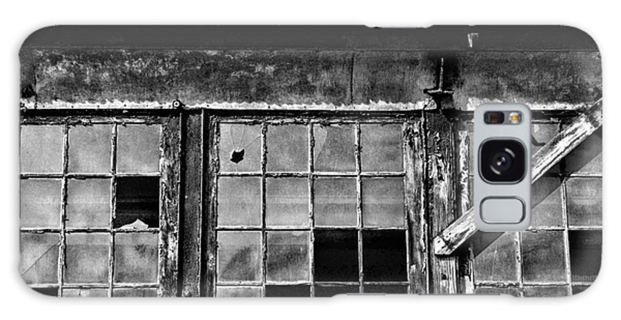 Paul Ward Galaxy S8 Case featuring the photograph Broken Windows In Black And White by Paul Ward