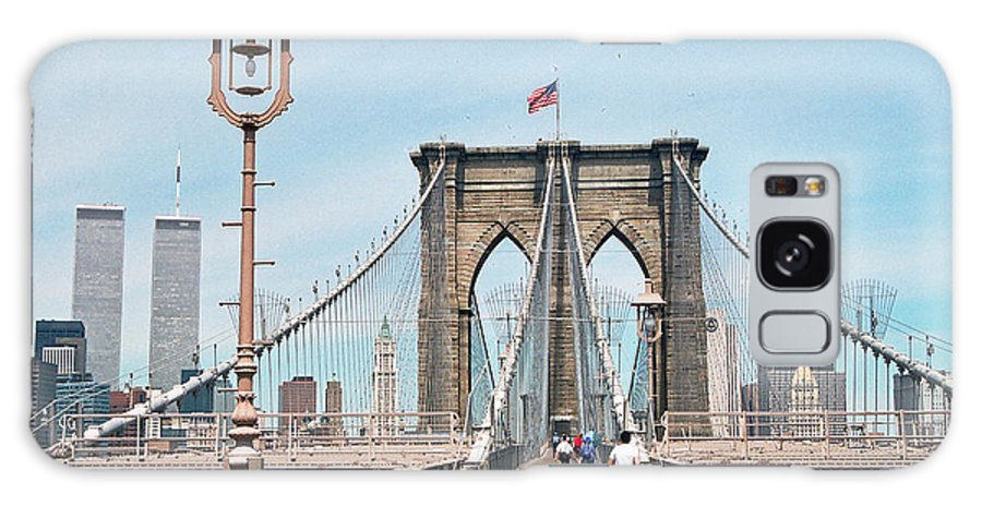 World Galaxy S8 Case featuring the photograph Brooklyn Bridge - New York by S Mykel Photography