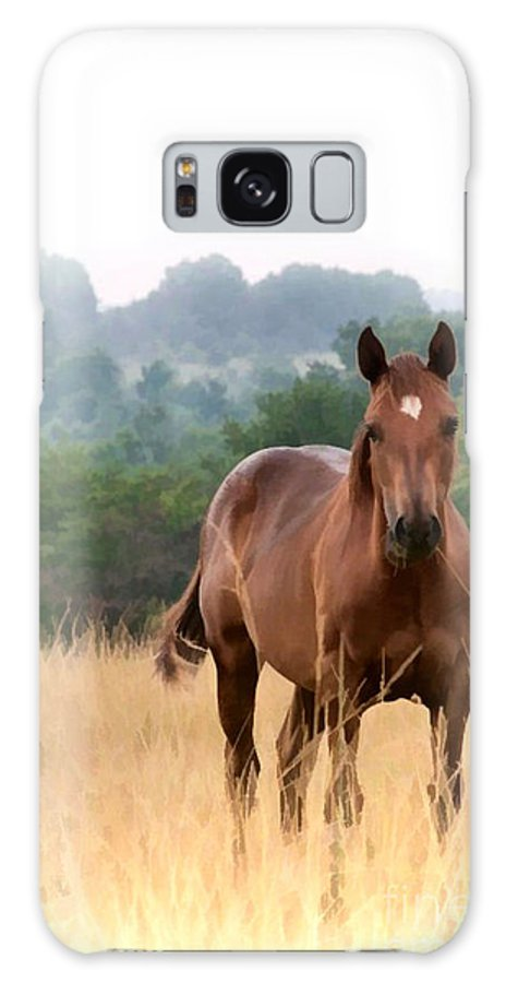 Brown Horse Galaxy S8 Case featuring the photograph Brown Horse by Theresa A Diehl