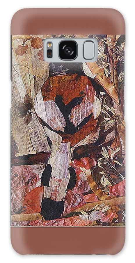 Brown-white-bird Galaxy S8 Case featuring the mixed media Brown- White Bird by Basant Soni
