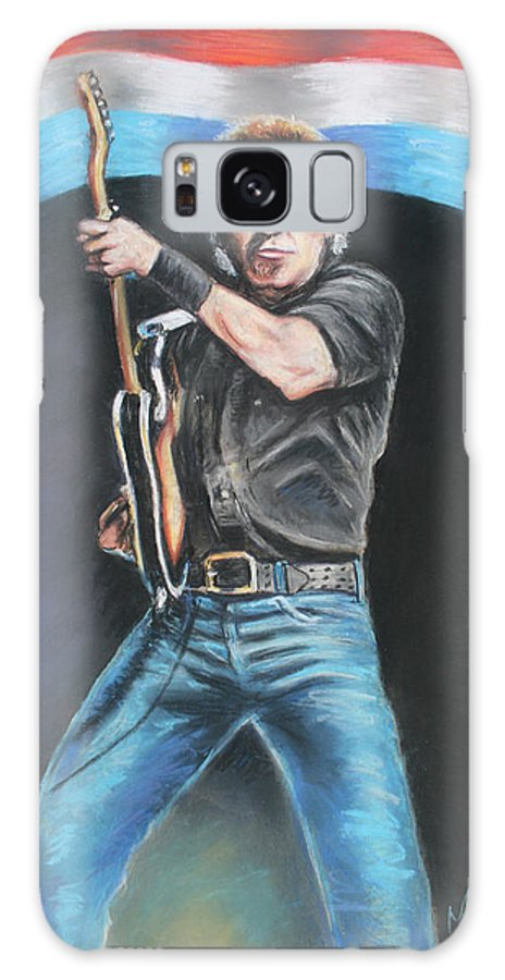Bruce Springsteen Galaxy S8 Case featuring the painting Bruce Springsteen by Melinda Saminski