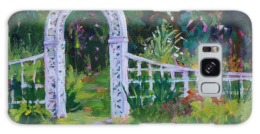 Brucemore Galaxy S8 Case featuring the painting Brucemore Garden Gate by Tara Moorman
