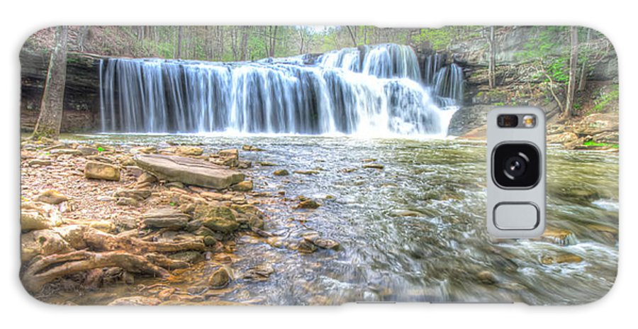 Abstract Galaxy S8 Case featuring the photograph Brush Creek Falls Located In West Virginia by Michael Bowen