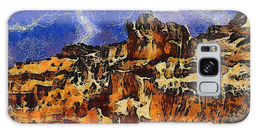 Bryce Canyon Thunderstorm Galaxy S8 Case featuring the painting Bryce Canyon Thuderstorm by Dan Sproul