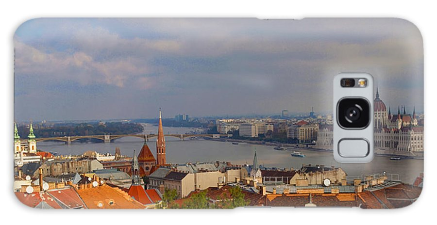 Budapest Galaxy S8 Case featuring the photograph Budapest Hungary Cityscape by David French