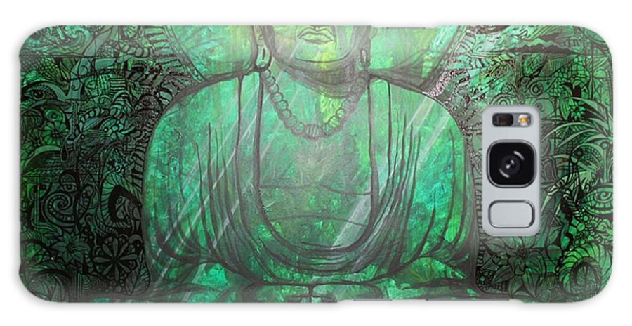 Psychedelic Galaxy S8 Case featuring the painting Budda's Garden by Tyler William Ross