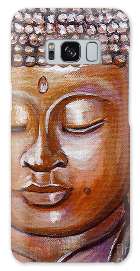 Buddha Galaxy S8 Case featuring the painting Buddha 1 by Gayle Utter