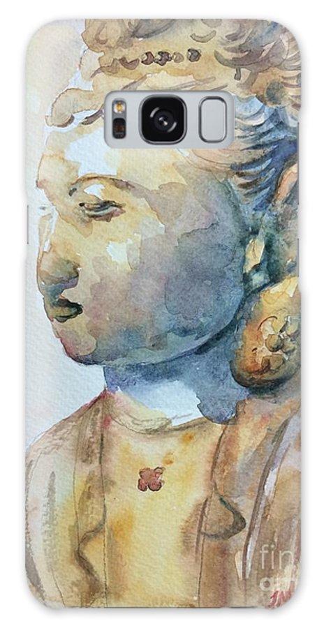 Buddha Galaxy S8 Case featuring the painting Buddha by Jieming Wang