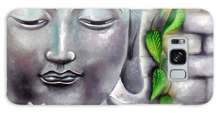 Buddha Galaxy S8 Case featuring the painting Buddha by Tejaswani Sharma