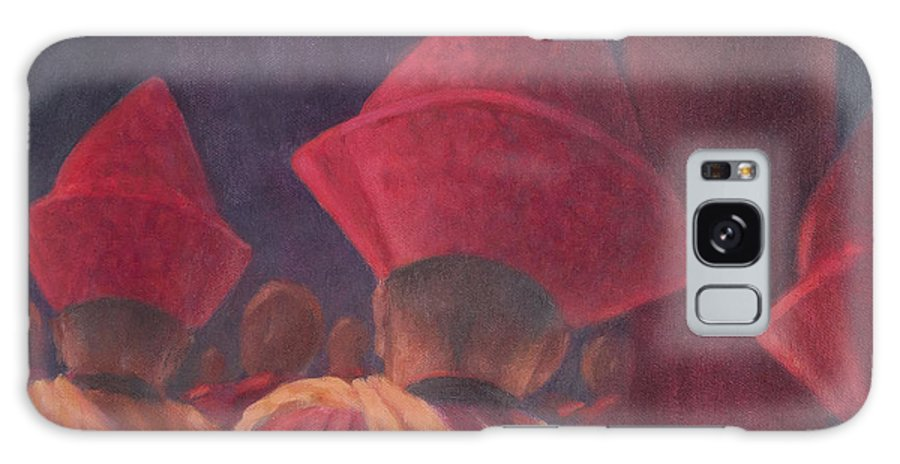 Buddhist Galaxy S8 Case featuring the photograph Buddhist Monks, Bhutan, 2012 Acrylic On Canvas by Lincoln Seligman