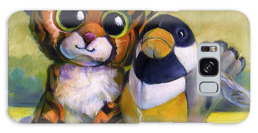 Stuffed Animals Galaxy S8 Case featuring the painting Buddies by Joose Hadley