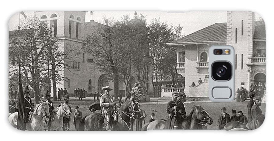 Columbian Exposition Galaxy S8 Case featuring the photograph Buffalo Bill Columbian Exposition 1893 by Martin Konopacki Restoration