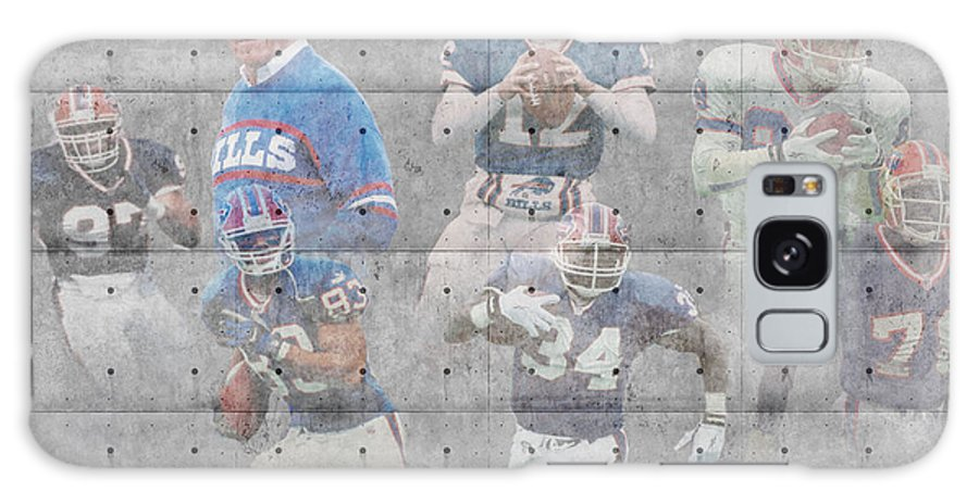 Bills Galaxy S8 Case featuring the photograph Buffalo Bills Legends by Joe Hamilton