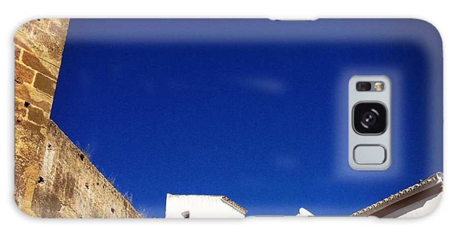 Buildings Galaxy S8 Case featuring the photograph Buildings And Blue Sky by Hannah Rose