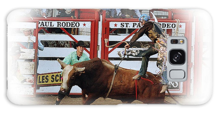 Rodeo Galaxy S8 Case featuring the photograph Bull Riding by Steven Baier