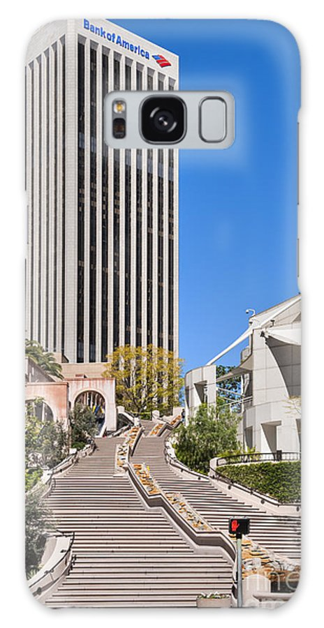Archicture Galaxy S8 Case featuring the photograph Bunker Hill Steps Los Angeles by David Zanzinger