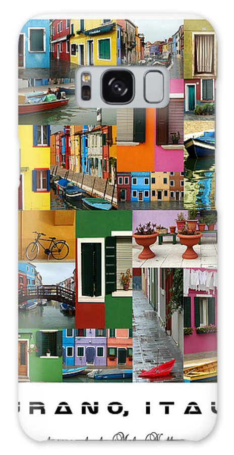 Burano Galaxy S8 Case featuring the photograph Burano Italy Poster by Mike Nellums