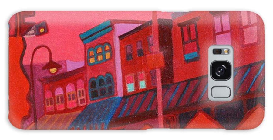 Vermont Galaxy Case featuring the painting Burlington VT cafe by Debra Bretton Robinson