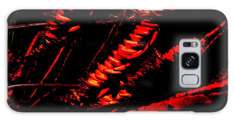 Red Galaxy S8 Case featuring the digital art Burning Flowers by John Le Brasseur